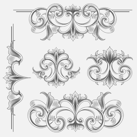 Set of Victorian Style Decorations