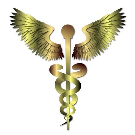 Vektor für Medical Caduceus Symbol - Lizenzfreies Bild