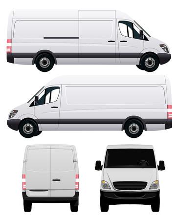 Photo pour White Commercial Vehicle - Van No 2 - image libre de droit