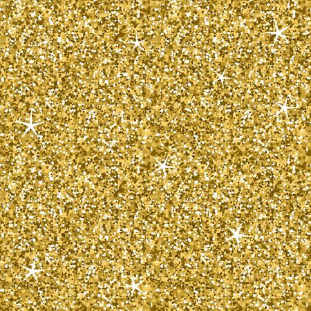 Illustration for Seamless Golden Glitter Sparkling Lights Texture - Royalty Free Image