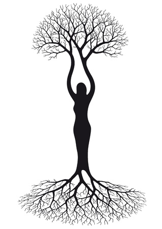 Illustration for woman tree - Royalty Free Image