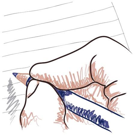 Illustration pour hand drawing - image libre de droit