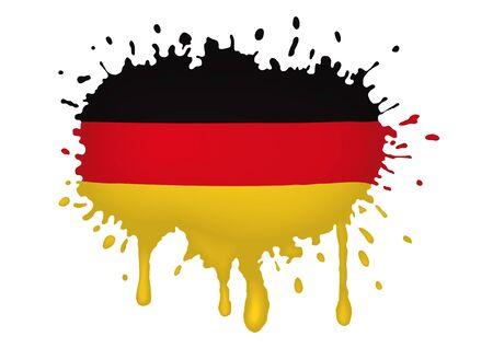 Germany flag scketch