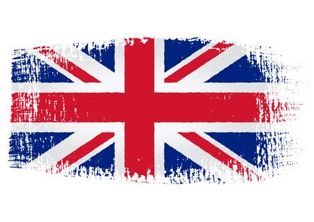 brushstroke of United Kingdom flag