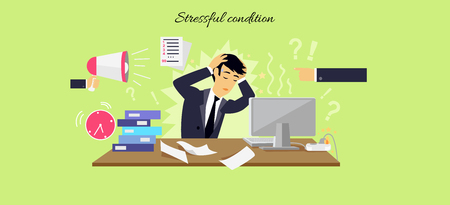Stressful condition icon flat isolated.