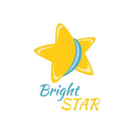 Bright star icon sign logo badge.