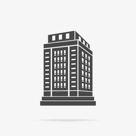 Photo pour Skyscraper building icon. - image libre de droit
