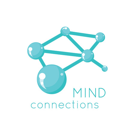 Illustration pour Mind connection logo science design. Science and mind logo, technology idea mind connection and business connection structure mind, network system vector illustration - image libre de droit