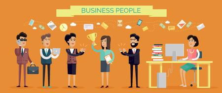 Illustration pour Business People Concept Vector in Flat Design - image libre de droit