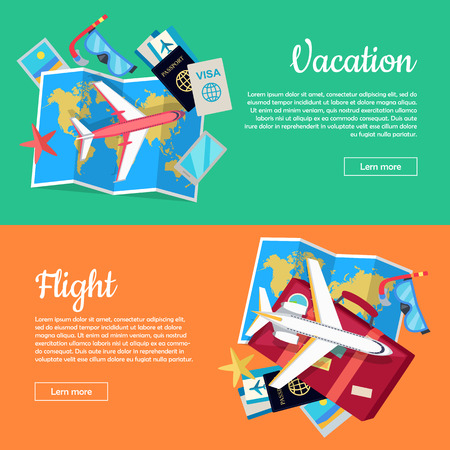 Conceptual Web Banners for Travel Agency