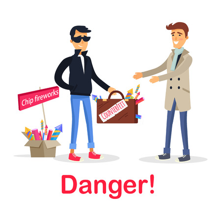 Process of Buying Counterfeit Case with Fireworks