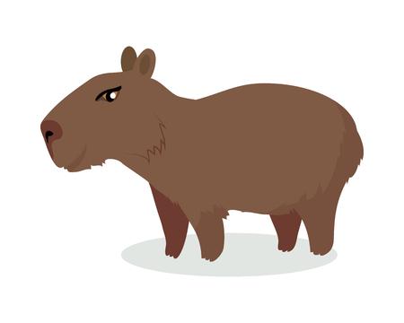 Illustration pour Capybara Cartoon Icon in Flat Design - image libre de droit