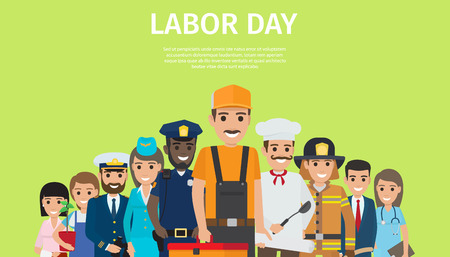 Illustration for International Labor Day, Bright Promotion Poster - Royalty Free Image