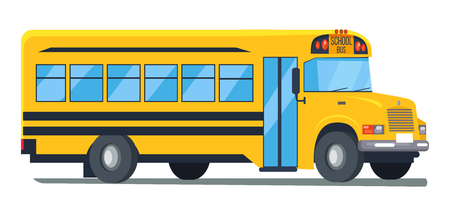 Illustration for Icon of School Bus Isolated Illustration on White - Royalty Free Image