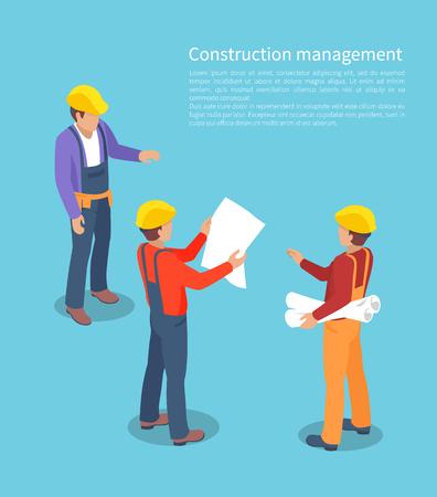 Illustration pour Construction Management, Color Vector Illustration - image libre de droit