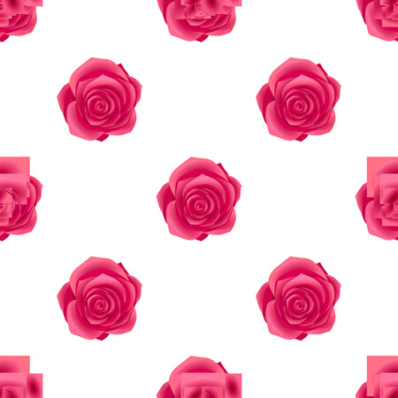 Seamless Pattern with RoseBlossom Isolated