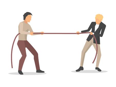 Illustration pour Closeup of Men Competition Vector Illustration - image libre de droit