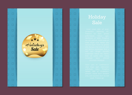 Holidays Sale Emblem on Promo Poster Round Label
