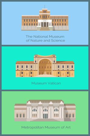 Illustration pour Set National Museums of Nature and Science Vatican - image libre de droit