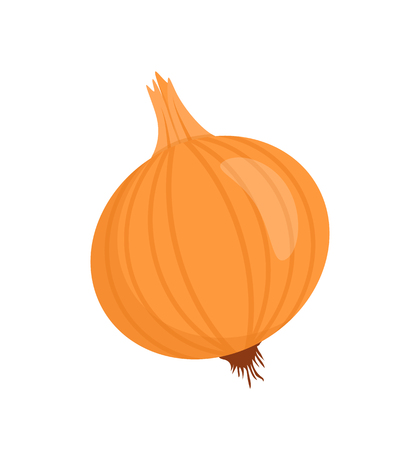 Ilustración de Onion Isolated Vegetable Cartoon Vector Badge - Imagen libre de derechos