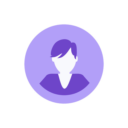 Social network, male avatar, man profile isolated icon vector. Person using websites for chatting and communication. Young user of internet and web