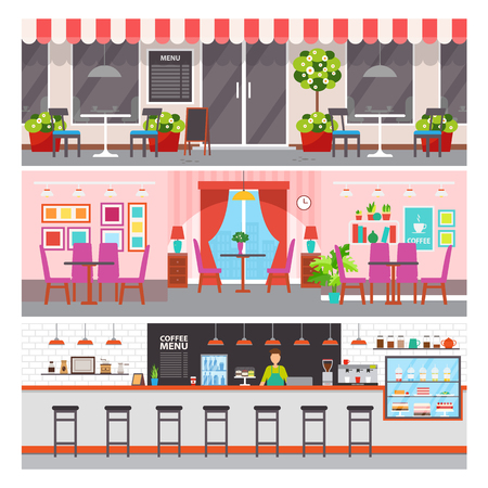 Illustration pour Restaurant with luxurious design vector. - image libre de droit