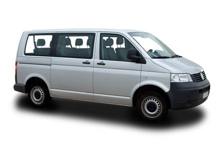 Photo for Silver Passenger Van - Royalty Free Image