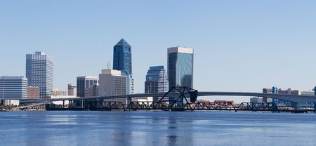 A panoramic view of Downtown Jacksonville, Florida