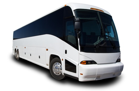Tour Bus isolated on white