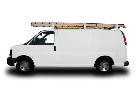 A Service Repair Van Isolated on White