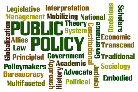 Public Policy word cloud on white