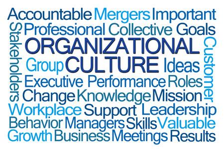 Photo pour Organizational Culture Word Cloud on White Background - image libre de droit