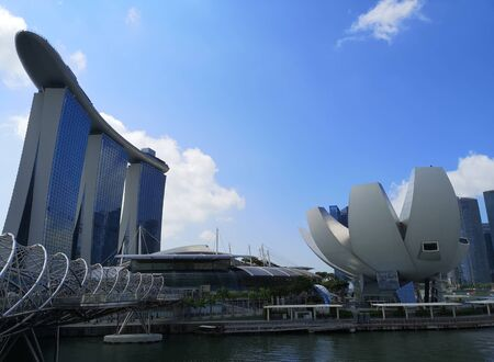 Photo for view of marina bay in singapore - Royalty Free Image