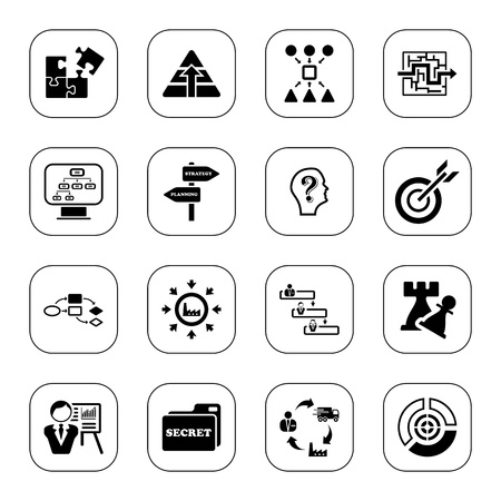 Business strategy icons - BW series