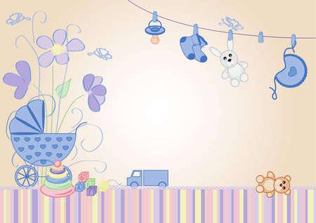 Illustration pour children background, the message would be a boy - image libre de droit