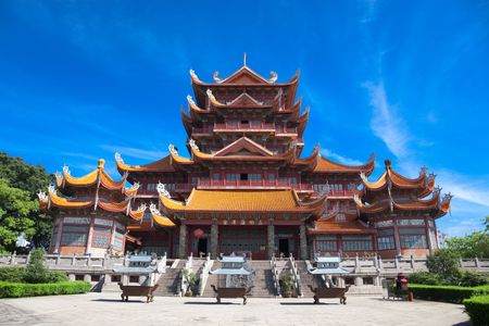 Photo for Temple of Xichan in Fuzhou,China. Xichan temple dating from thousand years ago is very famous place for  buddhism in southeast of China. - Royalty Free Image