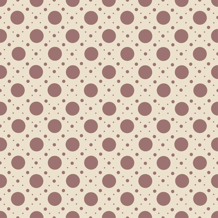 Abstract seamless polka dot pattern on beige background