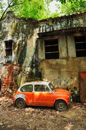 Derelict Mini Car House