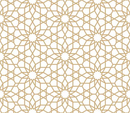 Photo pour Seamless gold oriental pattern. Islamic background. Arabic linear texture. Vector illustration. - image libre de droit