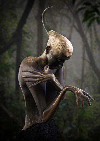 Forest guardian, fantasy style portrait