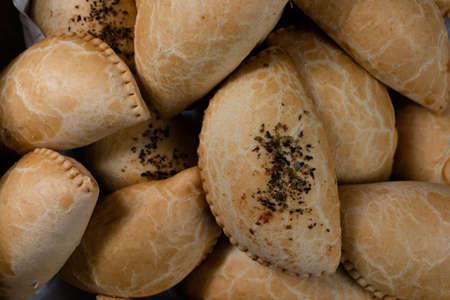Photo pour Baked and stuffed bread. Brazilian snack. - image libre de droit