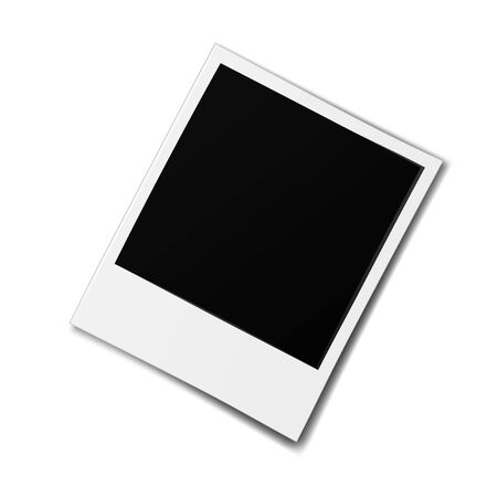 Illustration pour Realistic old photo frame isolated on white background. - image libre de droit
