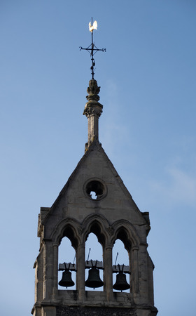 The Three Bells in the tower of Greyfriars Church in Reading