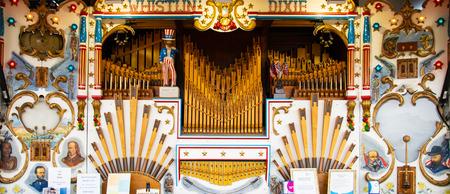 Netley Marsh, United Kingdom - July 21 2018:   A fairground organ called Whistlin Dixie at Netley Marsh steam fair