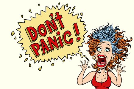 Illustration pour The woman panics and screams in horror. Comic book cartoon pop art illustration retro drawing - image libre de droit