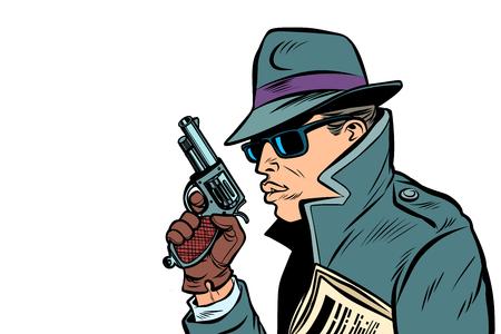 Vektor für gun spy, secret agent - Lizenzfreies Bild