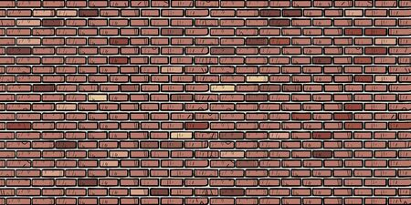Illustration for brown brick wall - Royalty Free Image