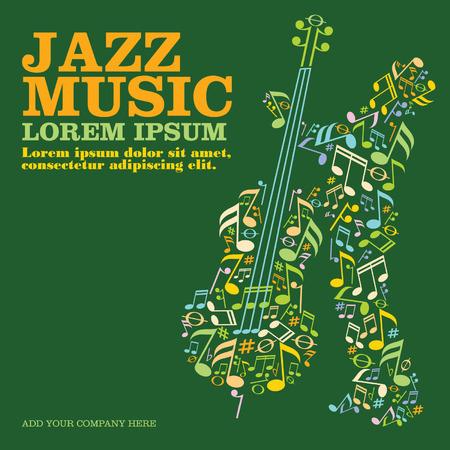 Illustration pour Jazz music - image libre de droit
