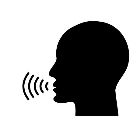Illustration pour Voice talking icon - image libre de droit