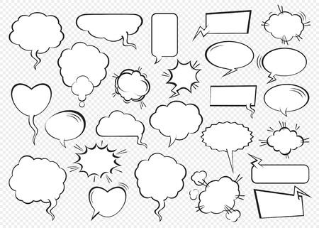 Illustration pour Set of comic speech bubbles. Vector Illustration and graphic elements. - image libre de droit